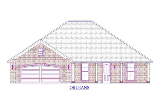 Orleans Floor Plan - Abshire Building Group