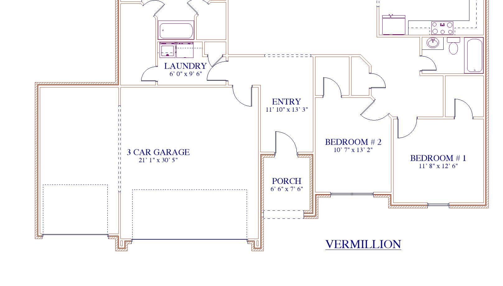 Vermillion Option - 3-Car Garage - Custom Homes in SE Texas