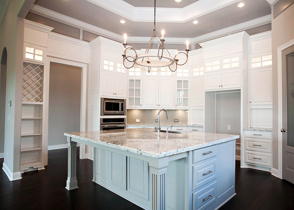 The Patsy Kitchen Island with Chandelier