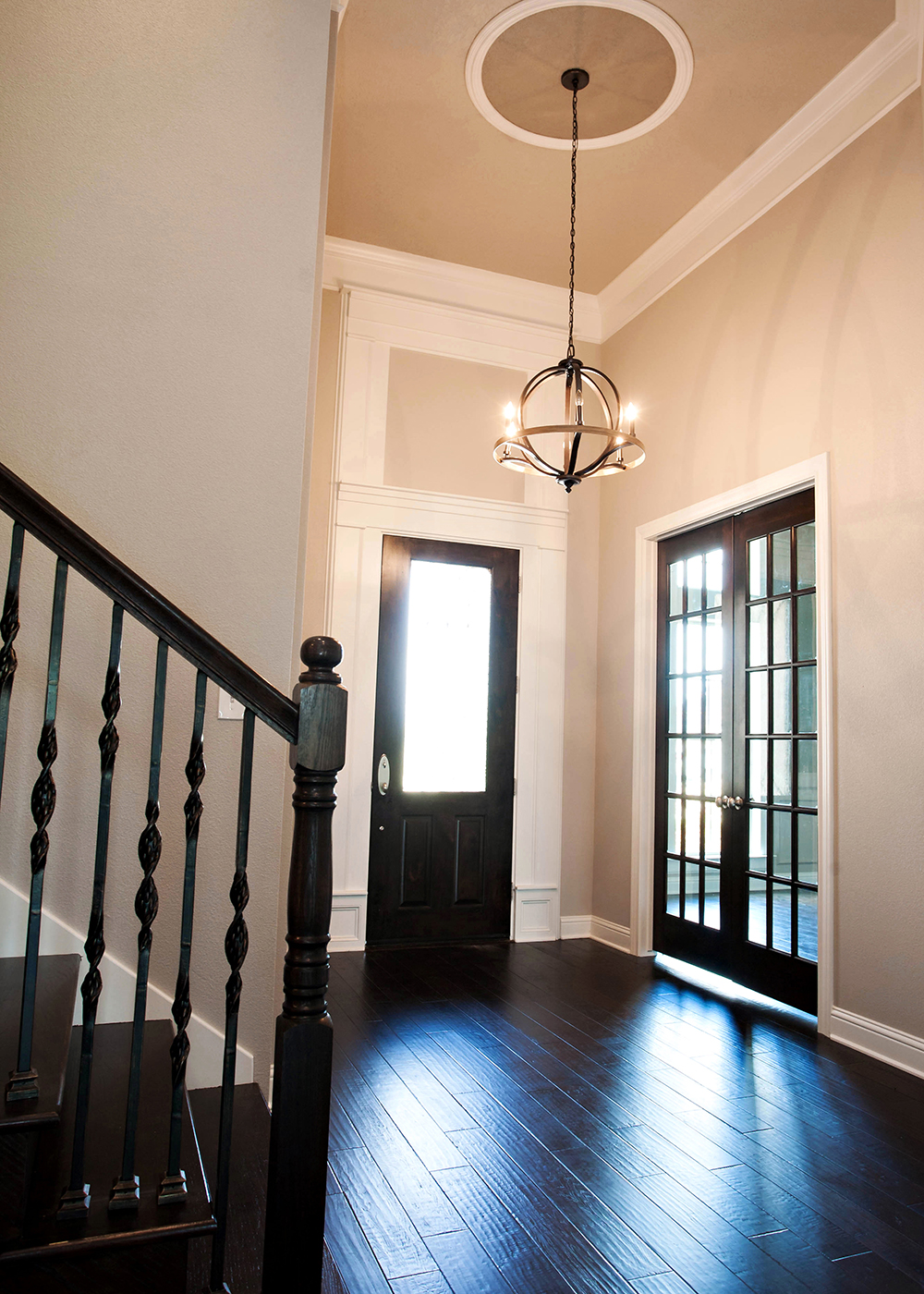 The Patsy Interior Entry with Hanging Light