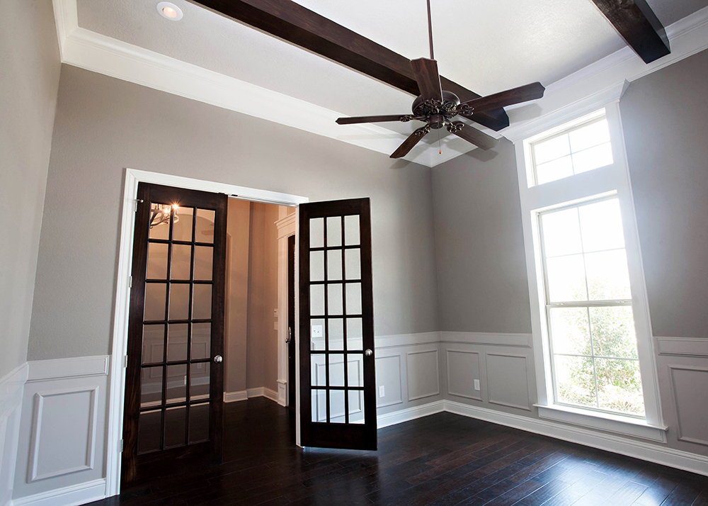 The Patsy Study open door with coffer ceiling
