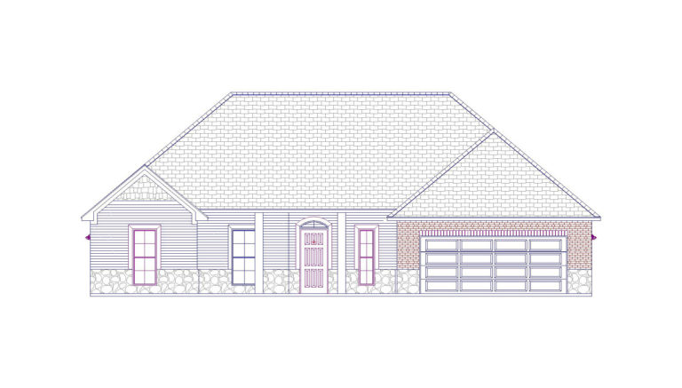 Duncan Quality built home line front elevation