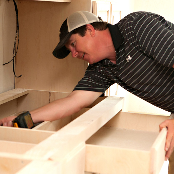 Troy Taylor Made Designs Cabinets For Abshire Building Group Customers
