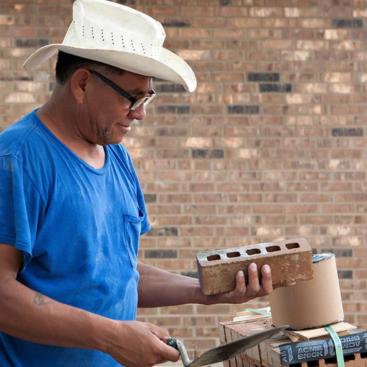 Gerealdo Ibarra Mason Bricking Job