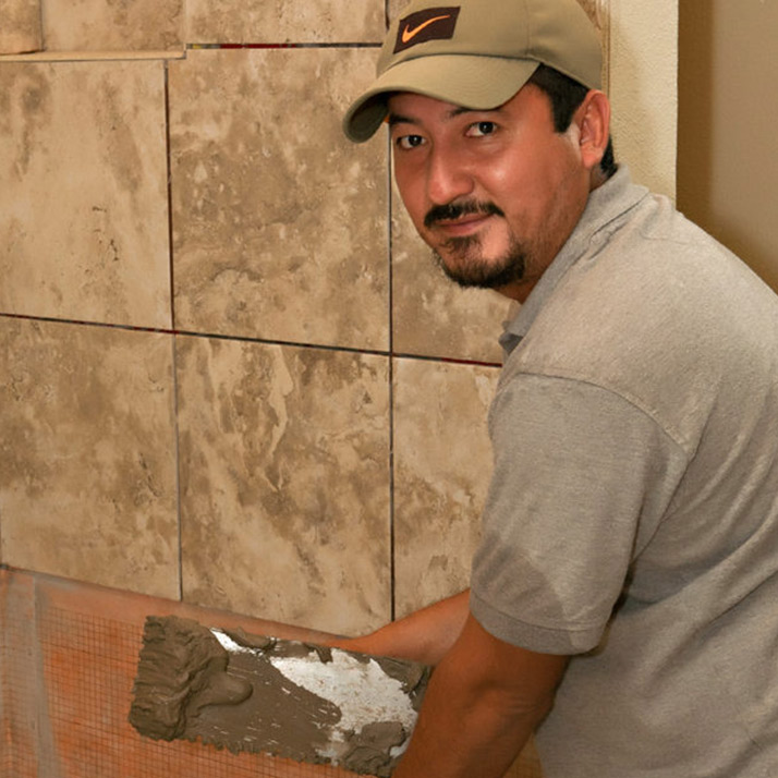 Ormando Reyes Tile Installer Working