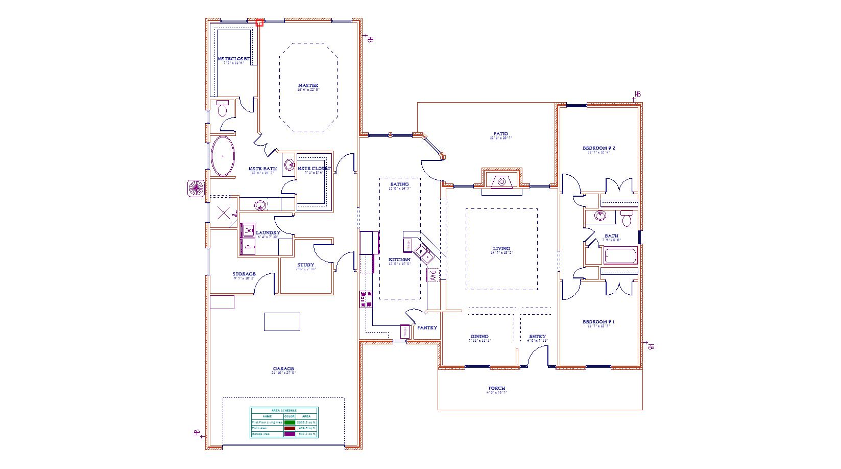 Custom Home floor plan southeast texas