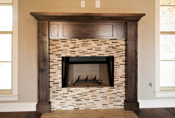 Fournier Custom Built Home Fireplace