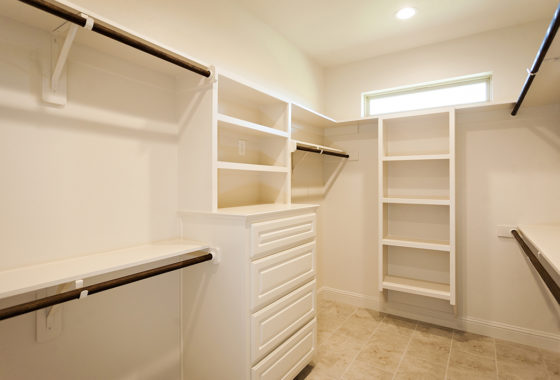 Fournier Custom Built Home Master Closet