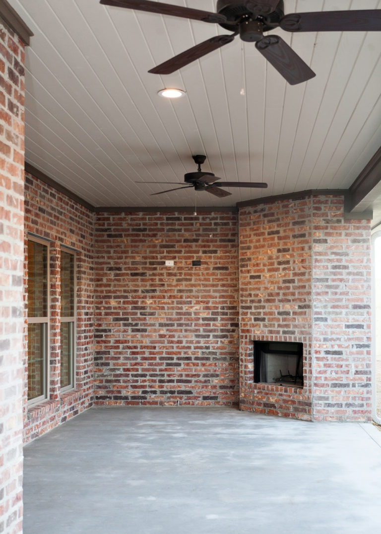Custom Home Exterior Fireplace