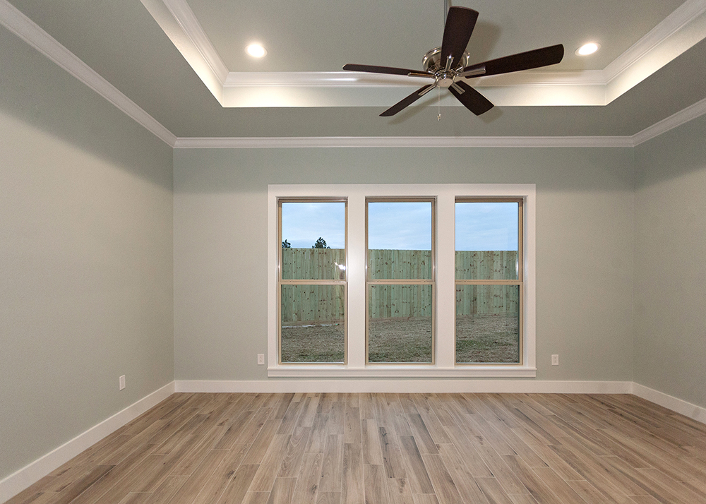 Reidy Modern Style Home Master Bedroom with Tray Ceiling