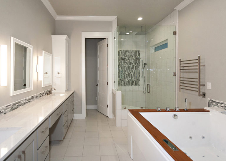 Reidy Modern Style Home Full View of Master Bathroom