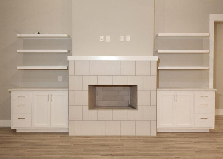 Reidy Modern Style Home Fireplace