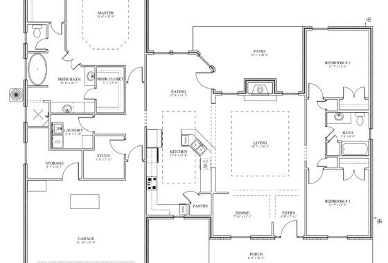 Fournier Custom Built Home Floor Plan