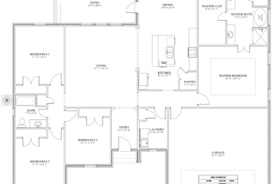 Christensen Custom Home Floor Plan