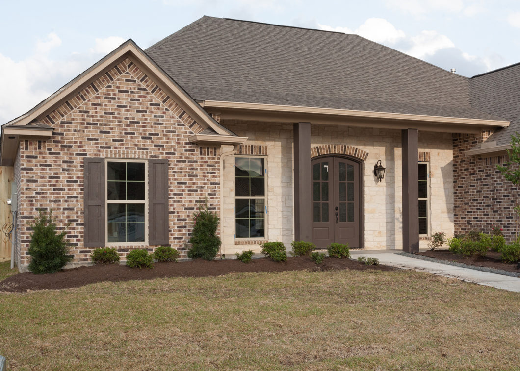 The Cora Modern Acadian Style Home Front Elevation View 1