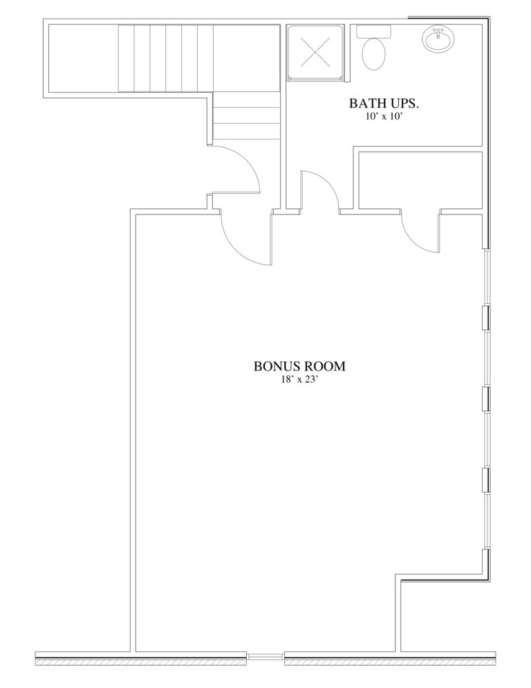 The White Second Floor Plan view