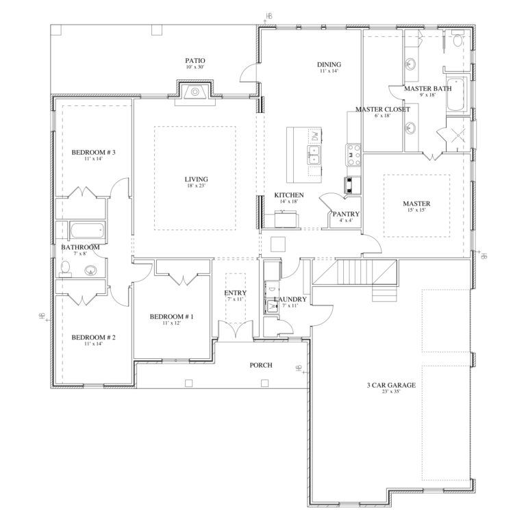 The White Floor Plan of house