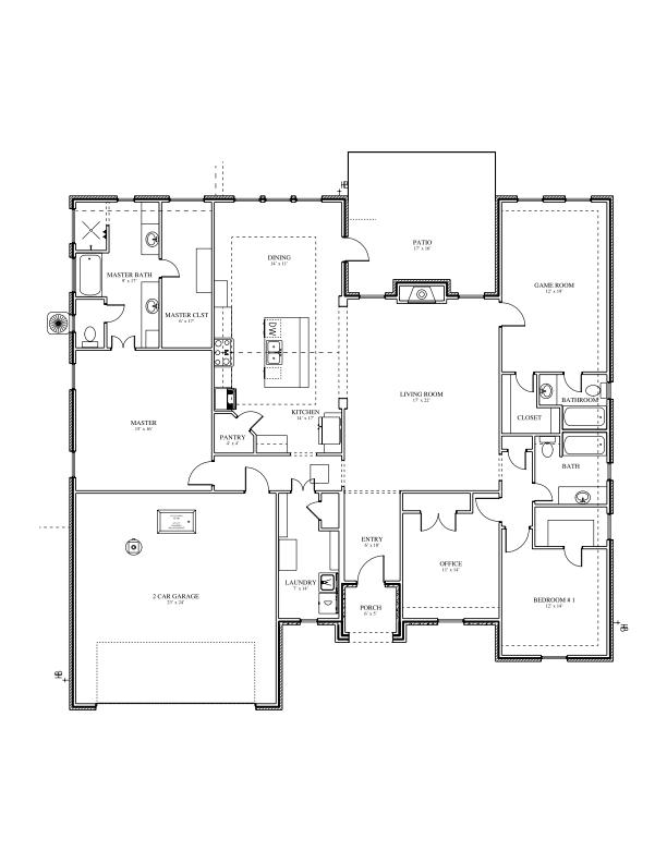 222 Spring brook court new home floor plan