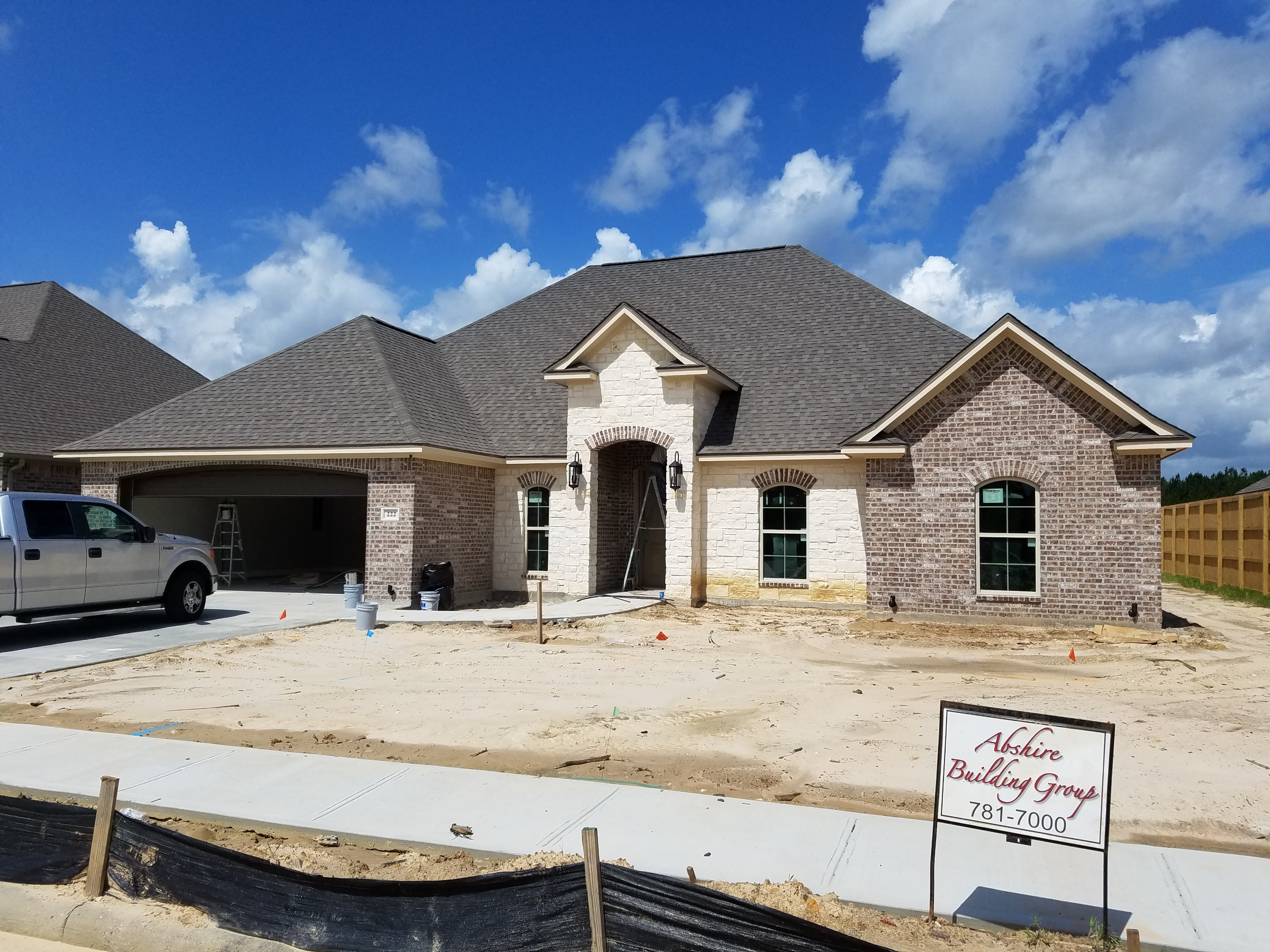 222 Spring brook court new home front elevation under construction