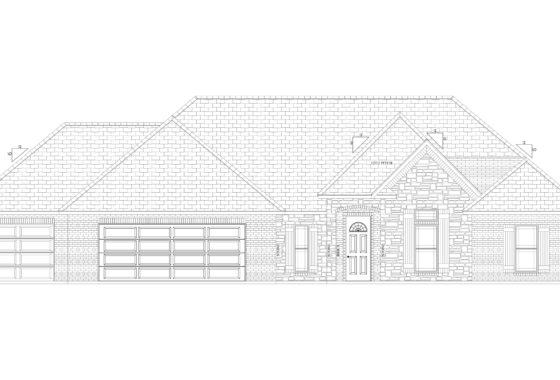 419 Riverbirch Drive Line Drawn Elevation Front View