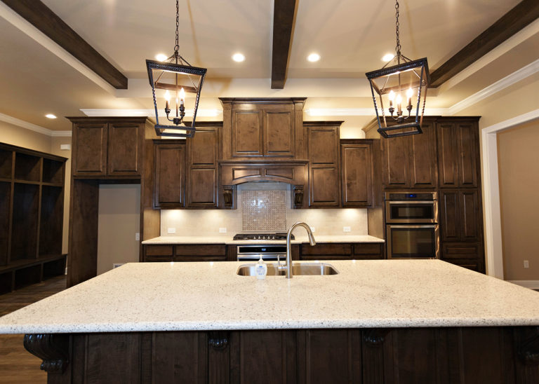 The Park Kitchen with oversized white granite island