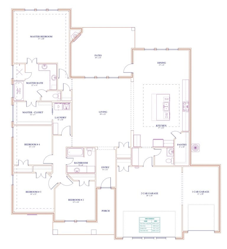 195 Hidden Grove Court Floor Plan