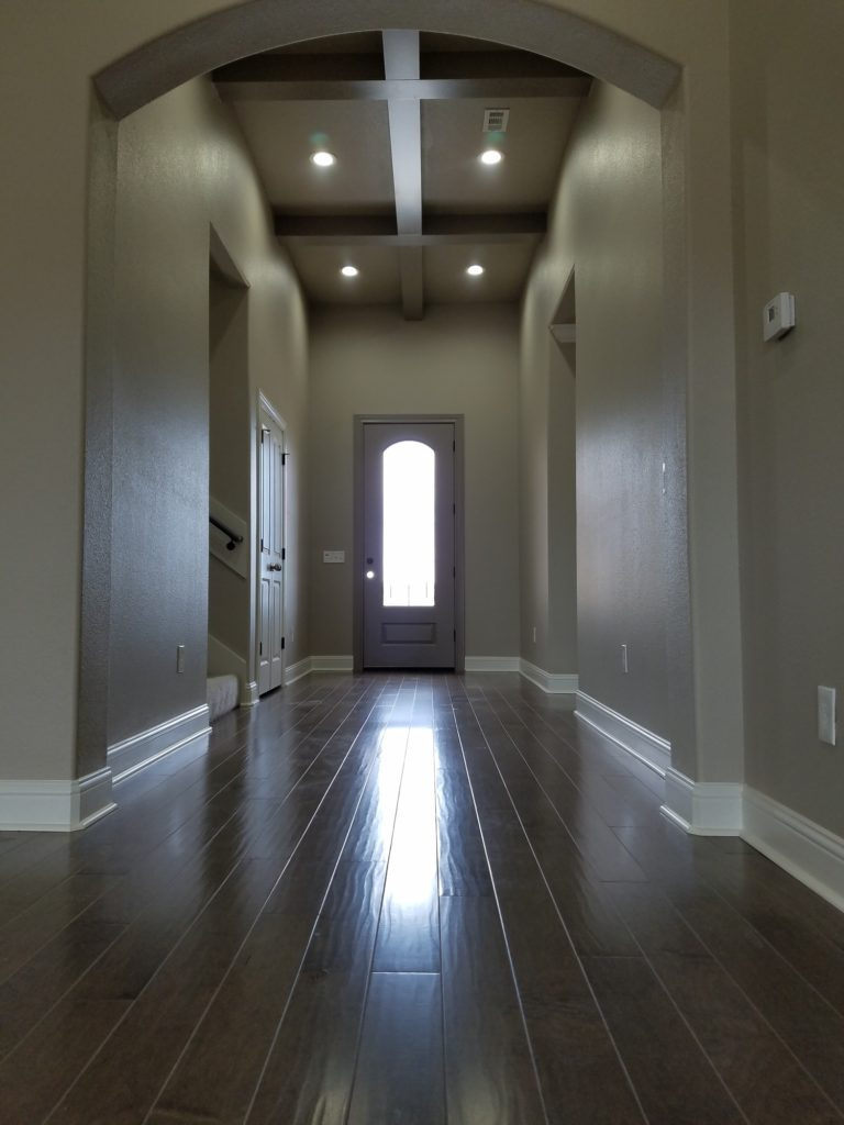 200 Hidden Grove Court new construction modern entry with beams