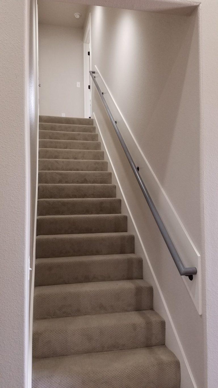 200 Hidden Grove Court carpet stairway