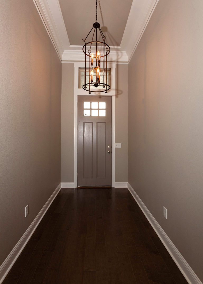 195 Hidden Grove Court Entry With modern hanging chandelier